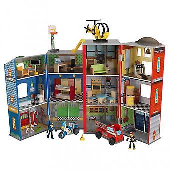 KidKraft Set Gioco in legno Everyday Heroes poliziotto e pompiere