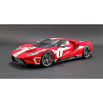 Ford GT Heritage Edition Number 1 (2018) Resin Model Car