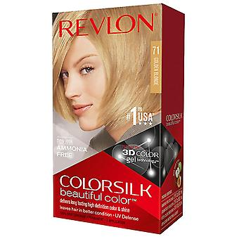 Revlon colorsilk beautiful color, #71 golden blonde, 1 kit