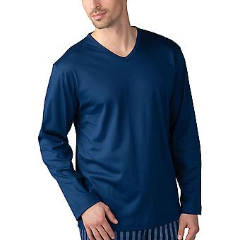 Mey 20720-664 Men's Lounge Neptune Blue Cotton Pyjama Top