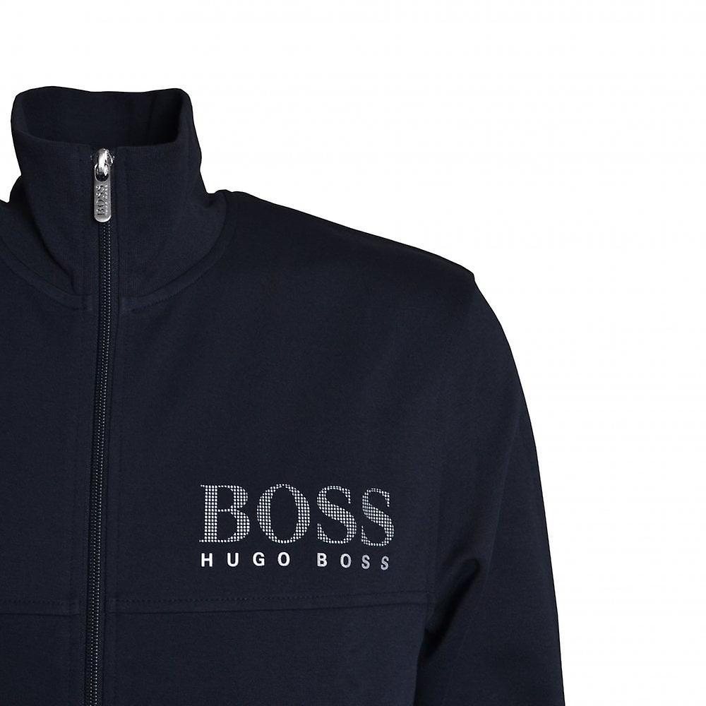 Hugo Boss Leisure Wear Hugo Boss Men's Dark Blue Zip Up Sweat Top