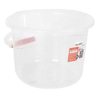 Bucket with Confortime 8 L Transparent Plastic Handle