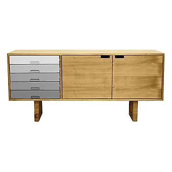 Fusion Living Scandi Style Oak And Grey Sideboard