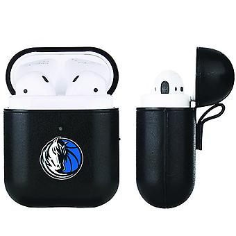 Dallas Mavericks NBA Fan Brander Zwart Lederen AirPod Case