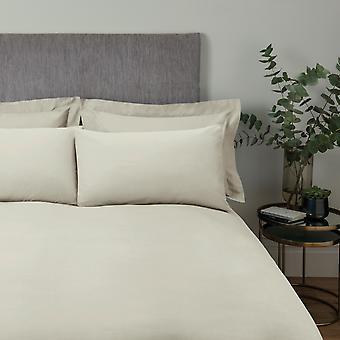 Plain Dye Bettdecke Set Elfenbein - Doppel