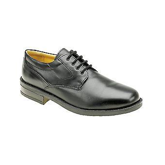 Roamers schwarz Leder Plain Gibson Ziege Leder Quarter Futter & Socke Tr Sohle