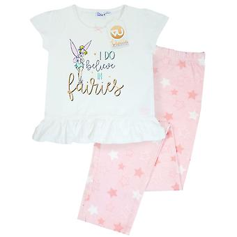Disney Peter Pan Tinkerbell I Do Believe In Fairies Girls Long Pyjamas