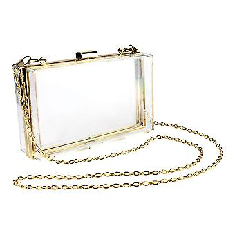 Transparent bag with chain - Gold