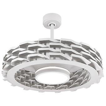 """Ventilator de tavan RUBIK 73cm / 29"""" Alb cu LED și telecomandă"""