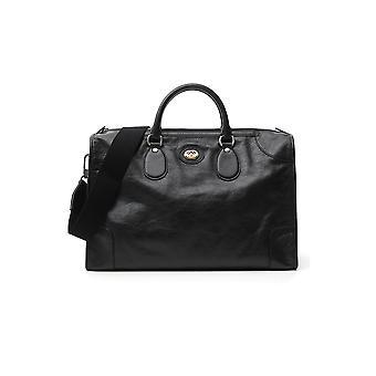 Gucci 5758201gzax1000 Men's Black Leather Travel Bag