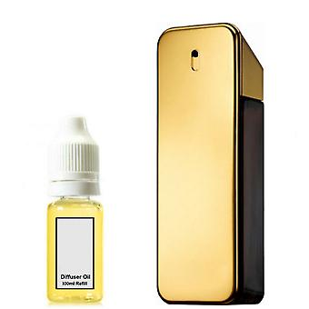 Paco Rabanne One Millione For Him Inspired Fragrance 100ml Refill Essential Diffuser Oil