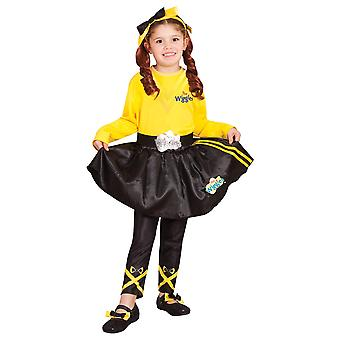 Emma The Wiggles Book Week Dress Up Girls Costume Accessory Black Skirt Size 3-5