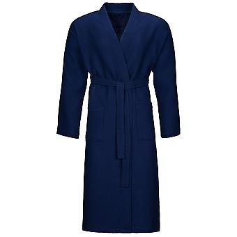 Vossen 162396-476 Unisex Wellington-L Winternight Blue Cotton Dressing Gown Robe