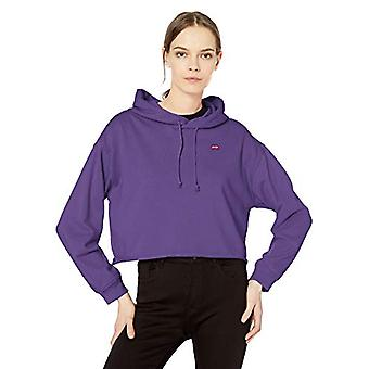 Levi's Women's Raw Cut Hoodie Sweatshirt, Passion Flower, Medium