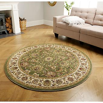 Kendra Traditional Round Circle Rug 333O G In Green