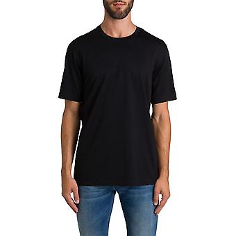 Z Zegna Vt372zz630k09 Männer's schwarze Baumwolle T-shirt