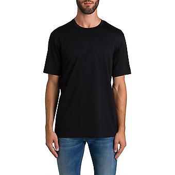 Z Zegna Vt372zz630k09 Men's Black Cotton T-shirt