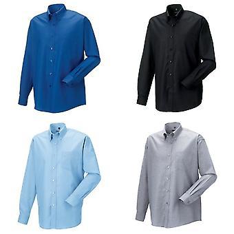 Russell samling Mens Long Sleeve lättskött Oxford skjorta