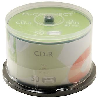 Q-Connect KF00421 CD-R (80 Min 700Mb) Spindle Pack of 50