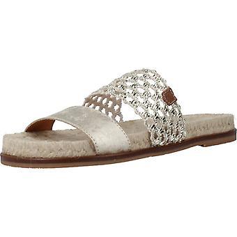 Menorquinas Popa Sandals Port Color Platinum