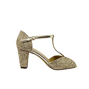 Anniel 1782lmcpcp044 Donne's Gold Glitter Sandals