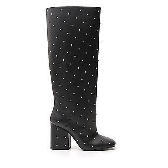 Marni Stms001609lv81700n99 Women's Black Leather Boots