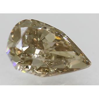 Cert 1.02 Carat Fancy Brown VS1 Pear Natural Loose Diamond 7.68x5.05mm 2VG