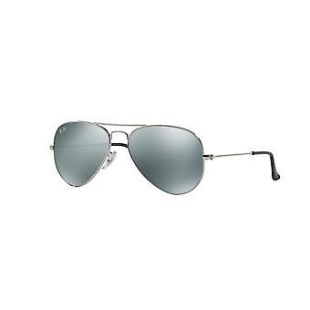 Ray-Ban Aviator RB3025 W3275 Silver Crystal Grey Mirror Sunglasses