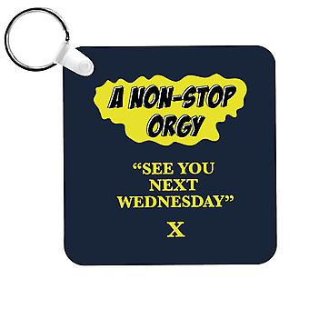 American Werewolf In London See You Next Wednesday Keyring