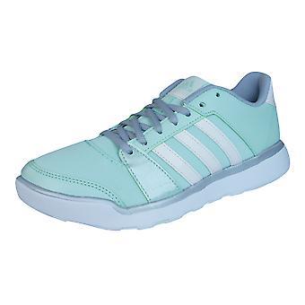 Adidas essenziale divertimento Womens istruttori di Fitness / scarpe - verde