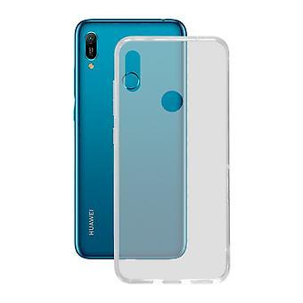 Cubierta móvil Huawei Y6 2019 KSIX Flex TPU Transparente