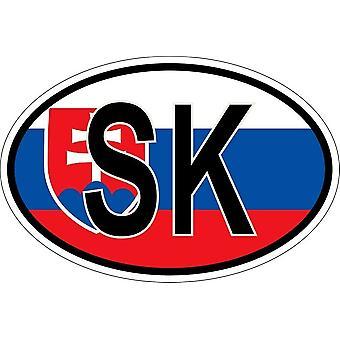 ملصقا البيضاوي البيضاوي العلم رمز البلد SK سلوفاكيا