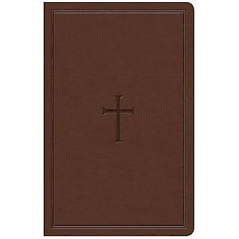 KJV Large Print Personal Size Reference Bible - Brown Leathertouch by