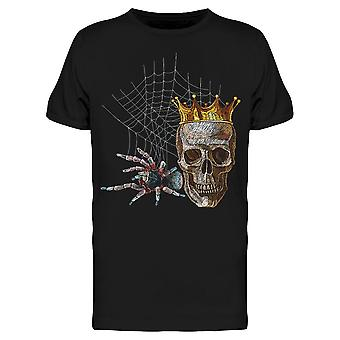 Colorful Tarantula Crowned Skull Tee Men's -Image by Shutterstock