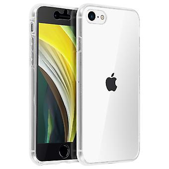 Silicone clear case + touch screen front cover for IPhone 7 / iPhone 8