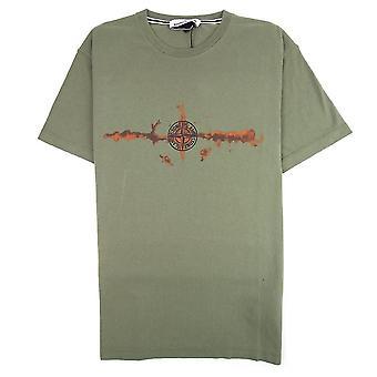 Île Stone | 71152ns85 Logo graphique Demi-manche T-shirt - Kaki