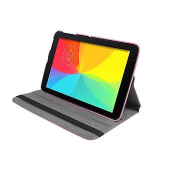 PU bőrtok 360 Forgó LG G Pad V700 10.1 & [Pink]