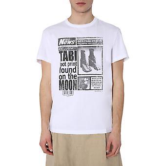 Maison Margiela S50gc0615s22816100 Men's White Cotton T-shirt