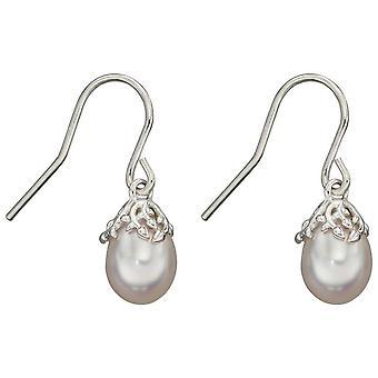 Elementer Sølv Barokk Perle Øredobber - Sølv