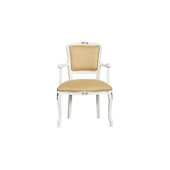 Poltroncina Diana Colore Bianco, Oro in Legno, L55xP50xA85 cm