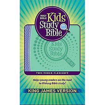 KJV Kids Study Bible Flex Purple Green - 9781683072836 Book