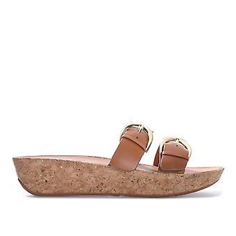 Naiset&s Fit Flop Duo Solki Slide Sandaalit ruskea