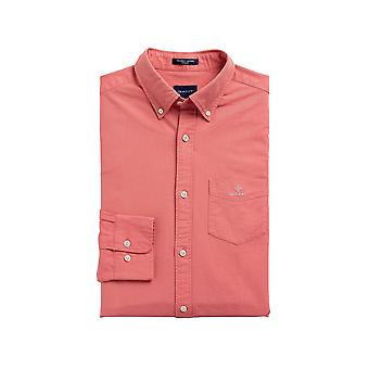 Gant Men's Beefy Oxford Shirt Regular Fit Coral