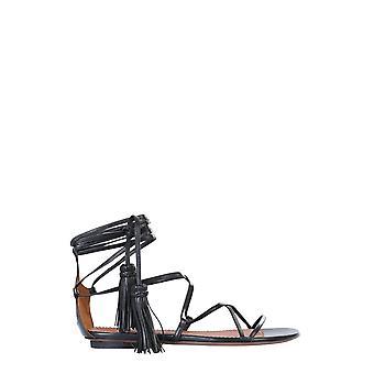 L'autre Koos Osl13605cc26151001 Dames's Black Leather Sandals