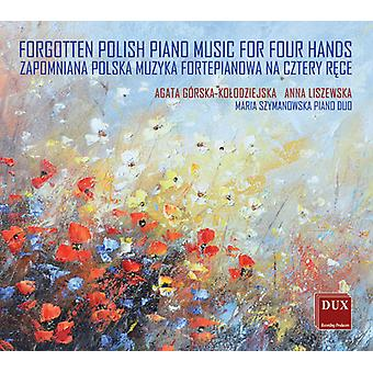Chopin / Liszewska - Forgotten Polish Piano Music for Four Hands [CD] USA import