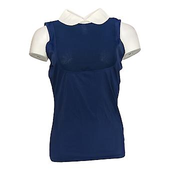 Kathleen Kirkwood Women's Dictra-Ease Chiffon Peter Pan Top Blue A369064