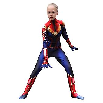 Children Beautiful Captain Cosplay Costume Jumpsuit