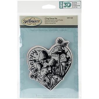 Tryllebindere 3D skygge frimærker - Happy Heart