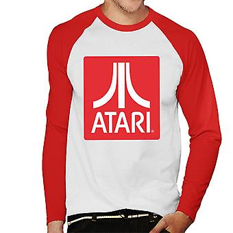 Atari Classic Red Block Logo Men's Baseball Long Sleeved T-Shirt