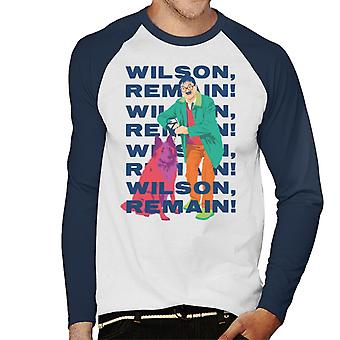 Friday Night Dinner Wilson Remain Men's Baseball Long Sleeved T-Shirt